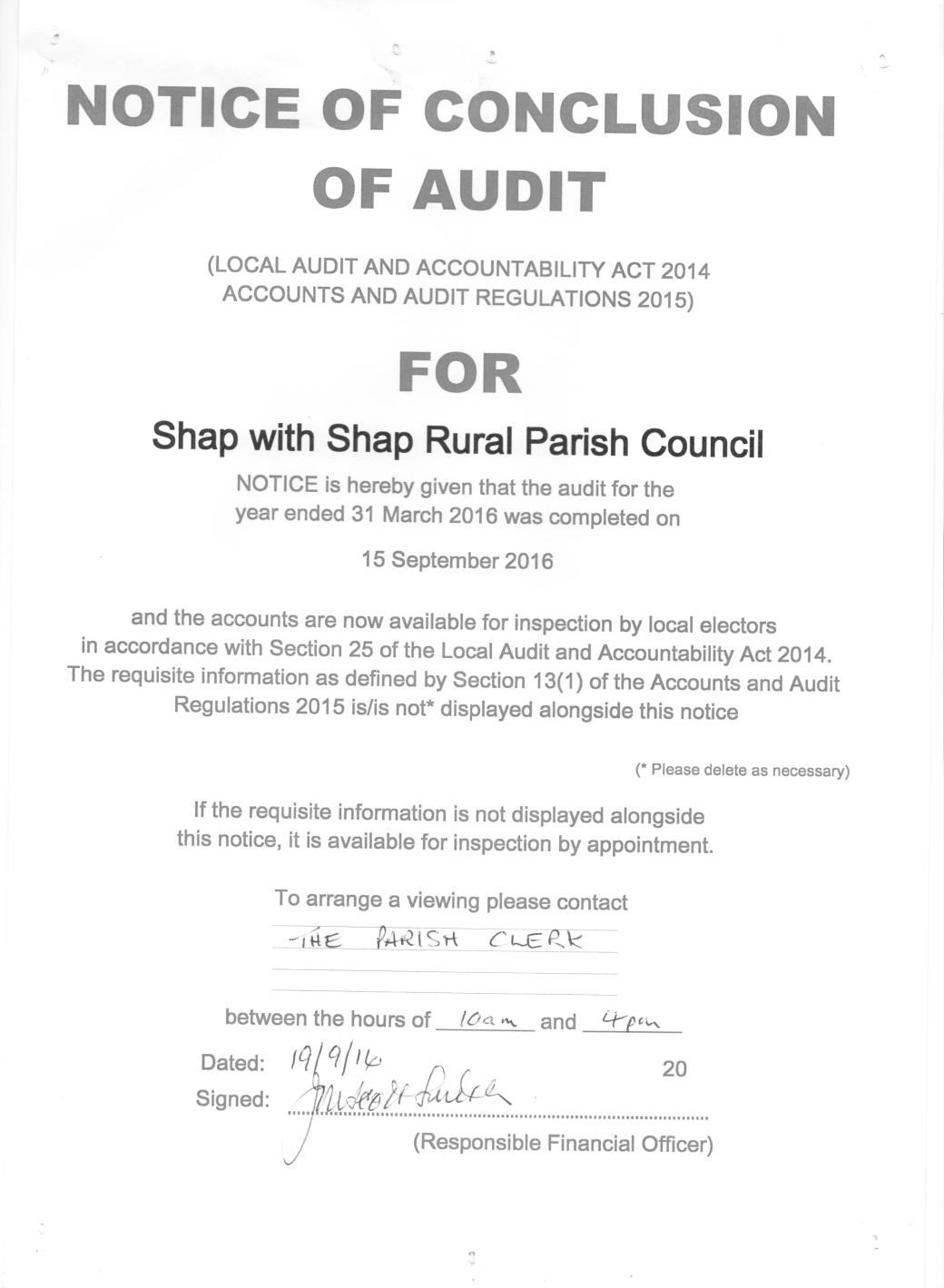 notice-of-conclusion-of-audit